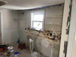 are there any concerns installing kitchen cabinets set away from