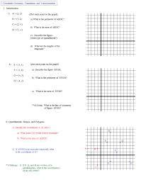 beautiful math worksheets translation rotation reflection first