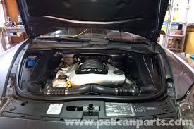 Porsche Cayenne 955 - porsche cayenne engine cover removal 2003 2008 pelican parts