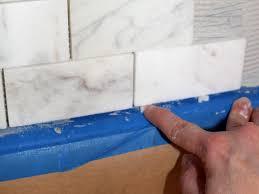 Tile Sheets For Kitchen Backsplash How To Install A Marble Tile Backsplash Hgtv