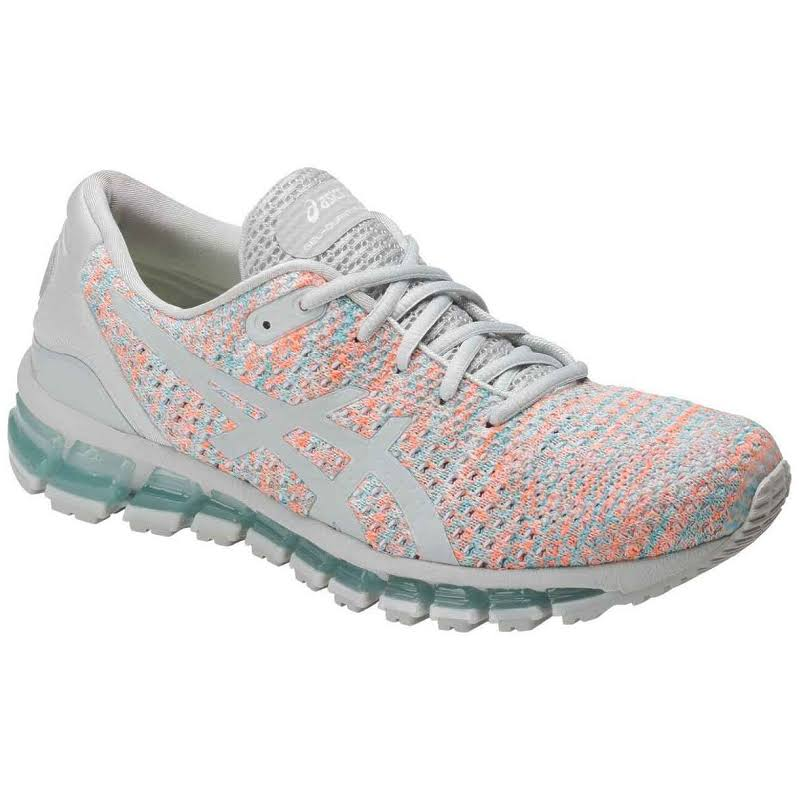 ASICS Gel Quantum 360 Knit Running Shoes Grey;Orange- Womens