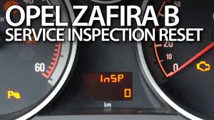 opel vauxhall zafira b reset service inspection reminder insp 0