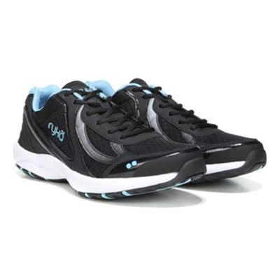 Ryka Dash 3 Walking Shoes, Wide Black, 8.5