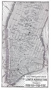 Map New York City by