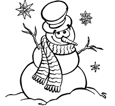 snowman coloring pages lezardufeu com