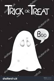 vector illustration white ghost saying boo stock vector 192265337