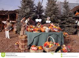 pilgrims on thanksgiving pilgrims at thanksgiving table editorial photography image 56950727