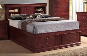 bookcase headboard king size bed 9170