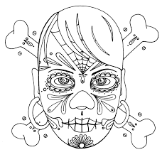 girly lightning wenchkins coloring pages skull and crossbones