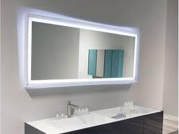 bathroom attractive frameless bathroom wall mirror ideas with led