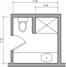 bathroom design plan three quarter bath floor plan small bathroom