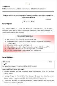 Secretary Resume Sample by Company Resume Examples