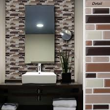 peel and stick glass tile backsplash self stick tile backsplash