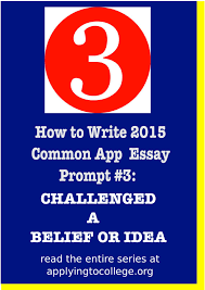 How to Write Common App Essay Reflect on a Time When You how to write Common Application Time You Challenged a Belief or     FAMU Online