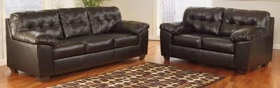 Chocolate Living Room Furniture by Buy Ashley Furniture 2010138 2010135 Set Alliston Durablend