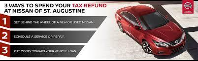 nissan finance used car rates nissan of st augustine new u0026 used car dealership near