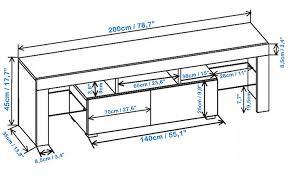 Living Room Furniture Tv Cabinet Amazon Com Tv Stand Milano 200 Modern Led Tv Cabinet Living