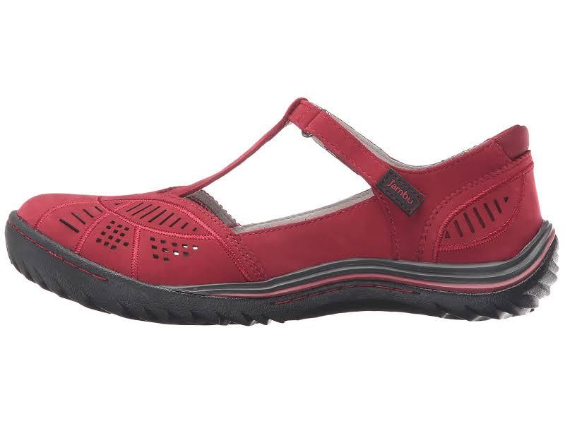 Jambu Bridget Mary Jane Flats Red 6.5 M