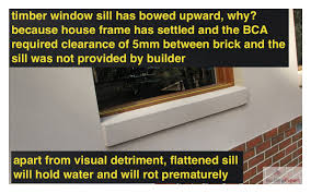 window sill bowed no frame settlement clearance building expert