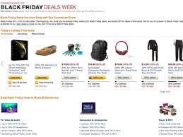 amazon top black friday deal amazon open its black friday store weeks early