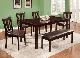 amazon com furniture of america jolene 6 piece dining table set amazon com furniture of america jolene 6 piece dining table set with bench espresso finish table chair sets
