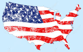United States Map by United States Map With Flag And Grunge Royalty Free Cliparts