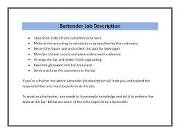Job Duties On Resume by How To Write The Best Bartender Job Description And Get Hired Fast
