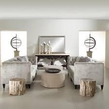 tufted sofa jane hollywood regency mocha wood silver velvet tufted sofa
