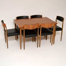 Teak Dining Room Table And Chairs by Dining Room Chairs Teak Chairs A Impre Teak Dining Table Etsy Mid