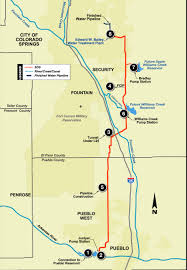 Peyton Colorado Map by Southern Delivery System Alignment Map Colorado Springs Gazette