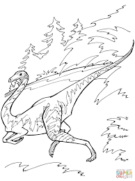 ornithomimus dinosaur coloring page free printable coloring pages