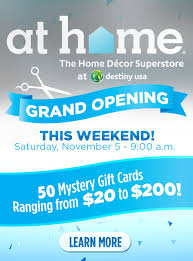 Superstore Home Decor At Home Grand Opening And Santa U0027s Arrival Destiny Usa