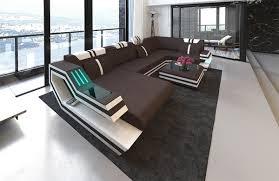 wohnlandschaften leder stoff sofa wohnlandschaft kassel als stoffsofa in der u form