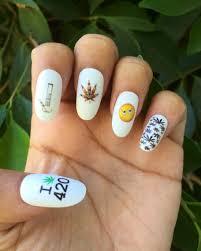 420 nail decals nail wraps nail art pot leaf marijuana