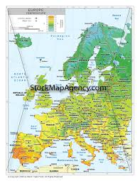 Western Europe Political Map by Stockmapagency Com Maps Of Western Europe Offered In Poster Print
