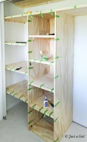 Building Wood Shelves For Storage by Best 25 Diy Closet Shelves Ideas On Pinterest Closet Shelves