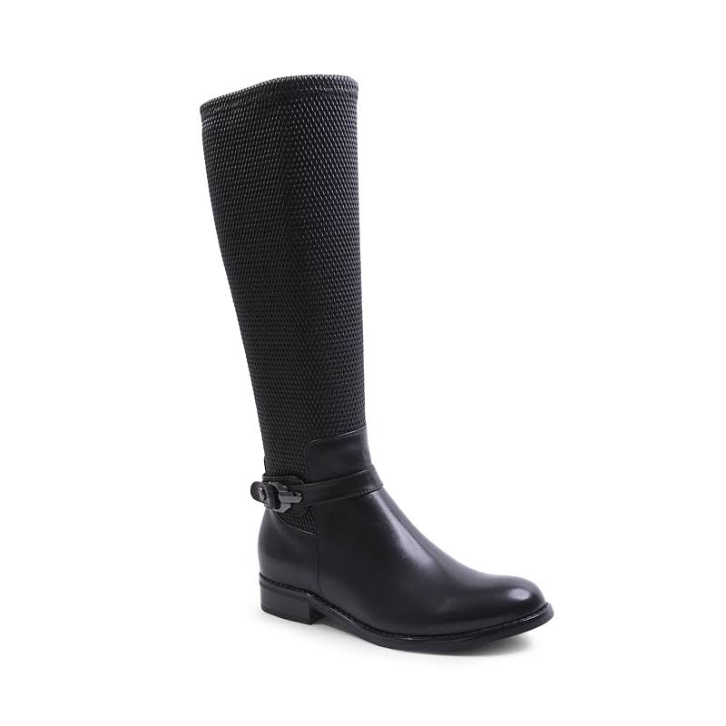 BLONDO Zana Women Black Leather (B5068) (6.5)