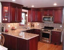 Best  Cherry Cabinets Ideas On Pinterest Cherry Kitchen - Kitchen backsplash ideas dark cherry cabinets