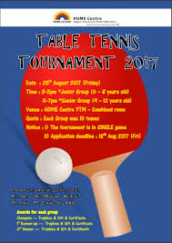 Table Tennis Tournament by New Home Association Table Tennis Tournament 2017 Aug 2017 Ytm