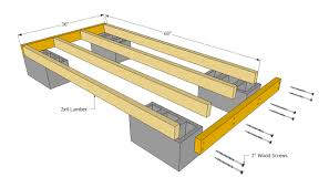 outdoor firewood storage rack plans with cinder block base and