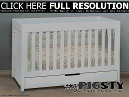 White Convertable Crib by Cribs With Storage Cribs With Storage Convertible Crib With