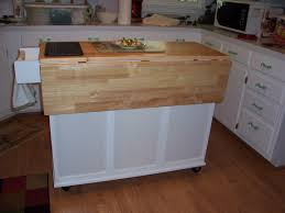 Portable Islands For Kitchens Drop Leaf Kitchen Island Plans Outofhome