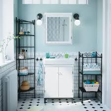 bathroom furniture ideas ikea bathroom with white silverA wash cabinet and mirror black nnskA shelves