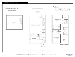Two Bedroom Apartment Floor Plans Two Bedroom Apartments The Glen The Buffalo Area U0027s Premier