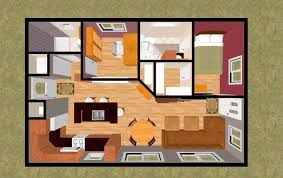 Small 2 Bedroom Cabin Plans Home Design Bedroom Cottage House Plans With Garage Lrg 2 Inside