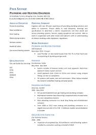 Pipefitter Resume Example by Paul Savage Plumbing And Heating Engineer Cv