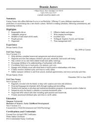 Sample Babysitter Resume by Job Duties Cover Letter Super Nanny Resume Of A Baby Babysitting