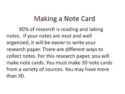 Research Paper Student Notes Template SlidePlayer