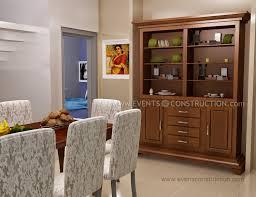 simple kerala dining room with crockery shelf modern bedroom