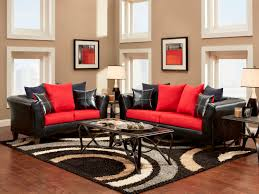 Black Leather Couch Living Room Ideas Living Room Elegant Brown And Red Living Room With Cream Leather